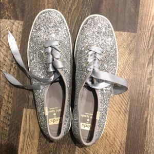 Keds for Kate Spade glitter sneakers, size 9.5